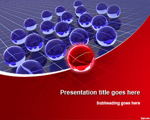 3D Spheres Leadership PowerPoint Template