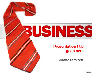 Red Tie Business PowerPoint Template