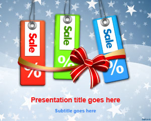 Holiday Sales PowerPoint Template