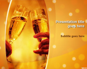 Champagne Celebration PowerPoint Template