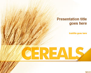 Free Cereals Powerpoint Template