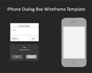 02 iphone dialogbox wireframe template. Black Bedroom Furniture Sets. Home Design Ideas