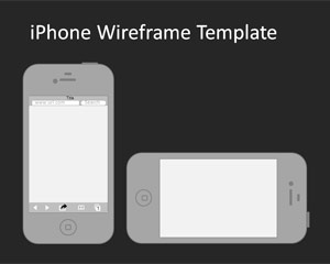 iPhone Wireframe PowerPoint template