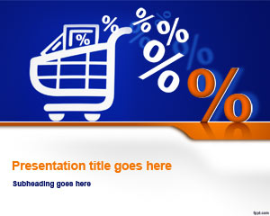 Shopping Basket PowerPoint Template