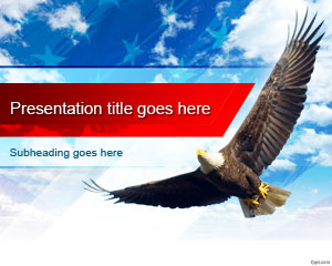 America PowerPoint Template Bald Eagle