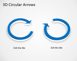 Free 3D Circular Arrows Template for PowerPoint