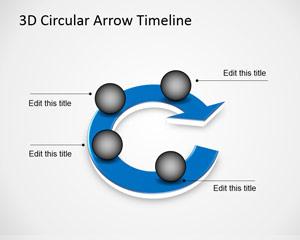 Circular Arrow Timeline Template