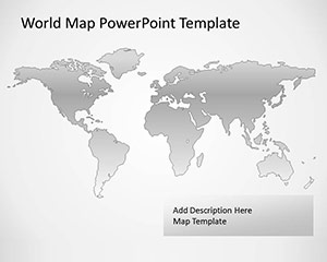 Free Vector Map of the World for PowerPoint with Gray Background