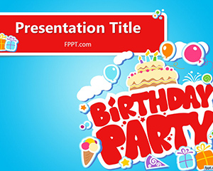 free-happy-birthday-party-red-ppt-template