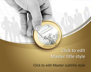 Free 1 Euro Coin PowerPoint Template