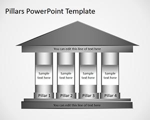 Free 4 Column Pillars PowerPoint Template