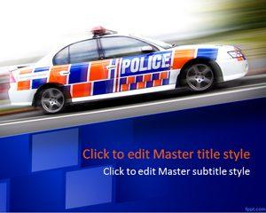 Police Car PPT Template