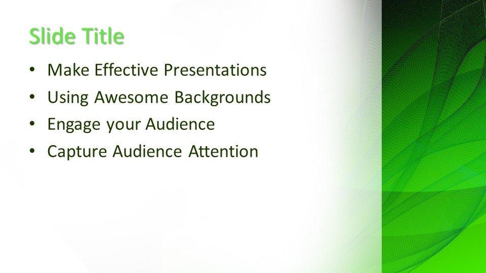 free green design powerpoint template
