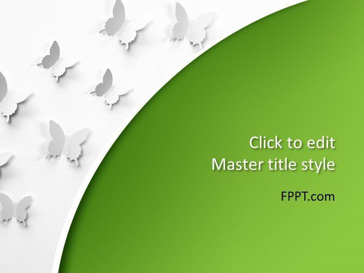 free amazing butterflies powerpoint template