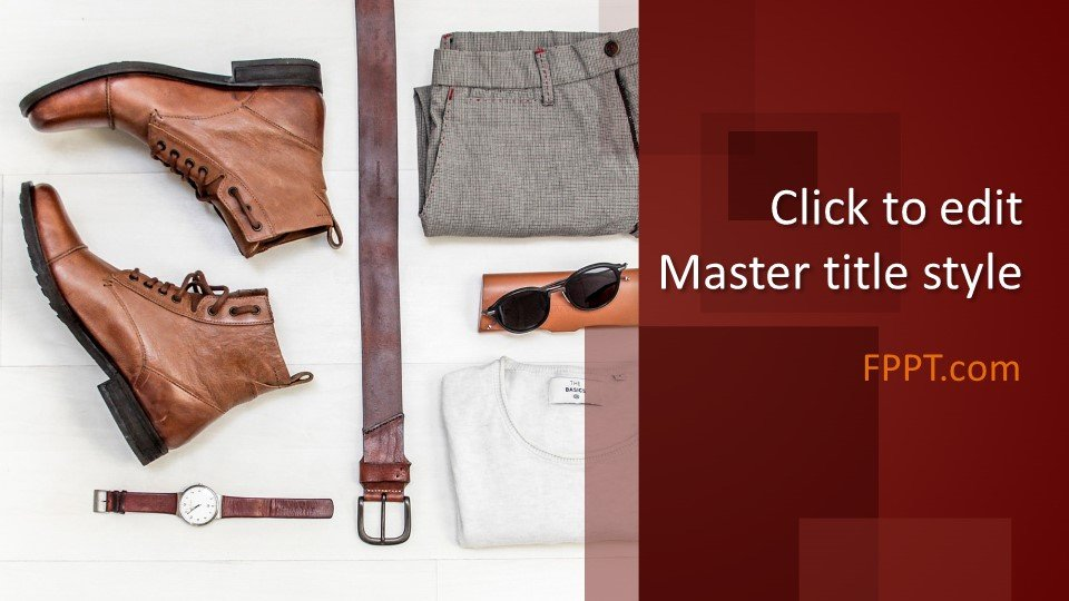 Free Men S Clothing Powerpoint Template Free Powerpoint
