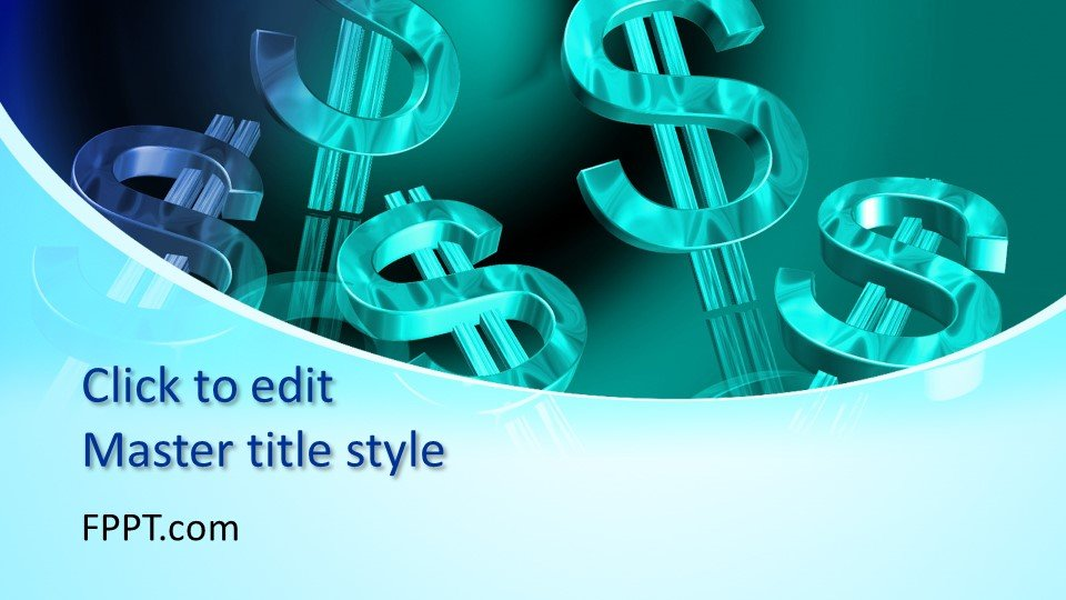 free money powerpoint template free powerpoint templates