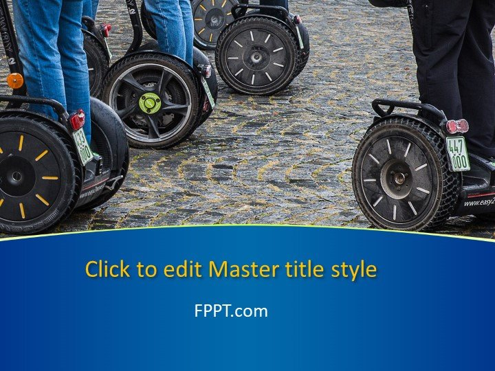 Free Driving Segway PowerPoint Template