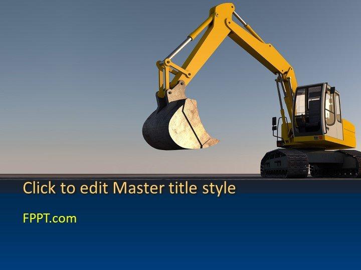 Free Excavator Machine PowerPoint Template