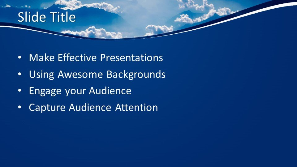 free blue clouds powerpoint template