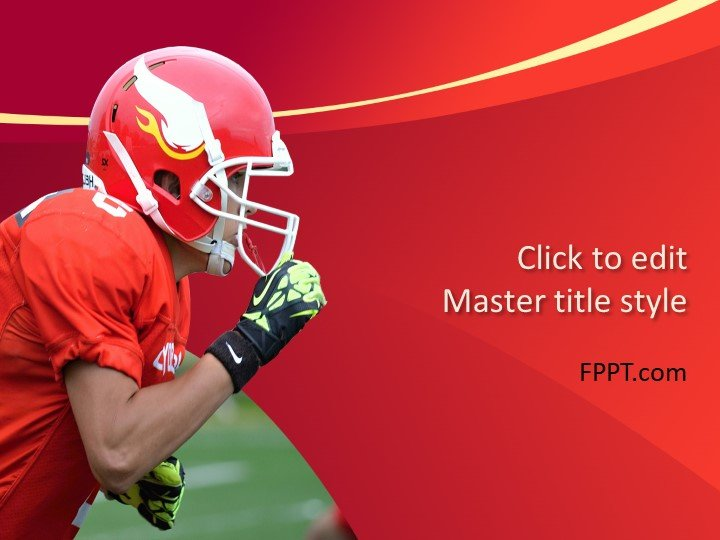Free Football Player PowerPoint Template