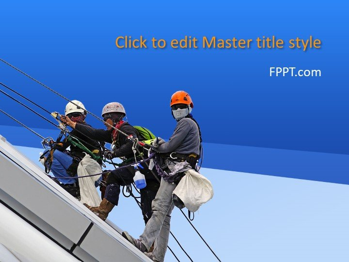 Free Working at Heights PowerPoint Template