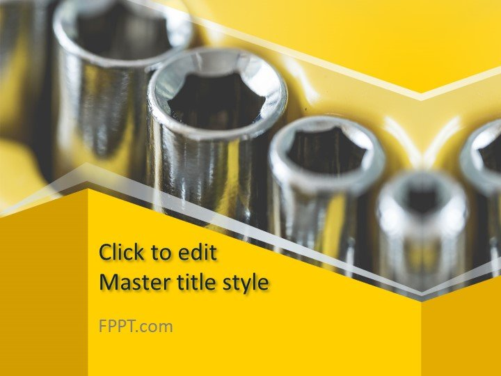 Free Drive Socket PowerPoint Template