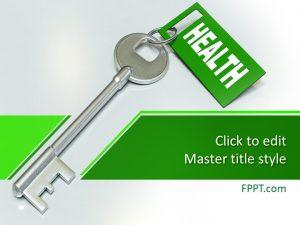 Free Key to Health PowerPoint Template