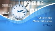 The time concept PPT template is a symbol of planning and management with the image of a wall clock perfect for the presentations on importance of time and management