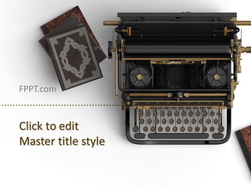 Free Vintage Typewriter PowerPoint Template