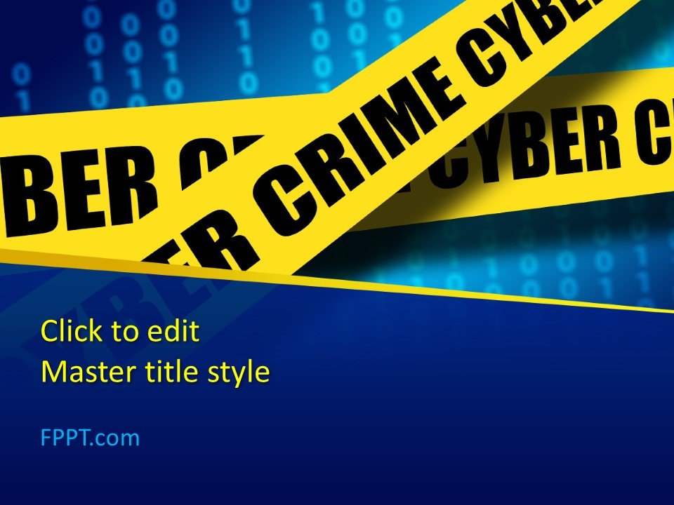 Free Cybercrime PowerPoint Template