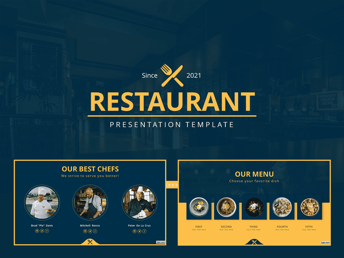 Professional Restaurant PowerPoint Template