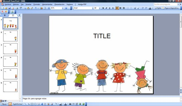 happy kids powerpoint template free powerpoint templates