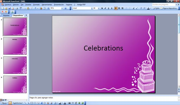 celebration cake powerpoint template