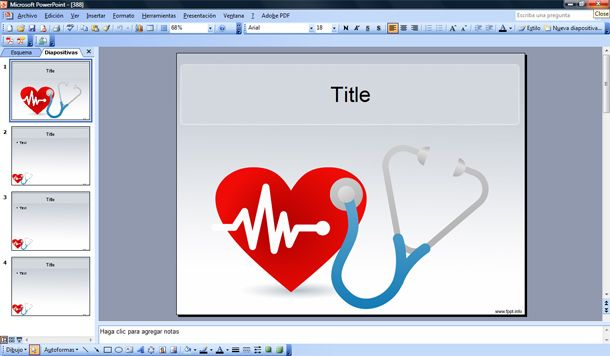 Free Medical PowerPoint Templates Heart
