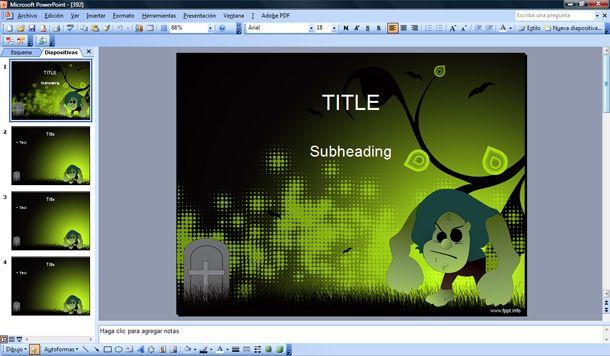 free halloween monster powerpoint template