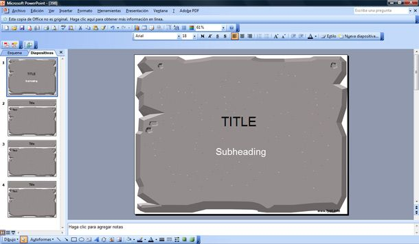 stone powerpoint template