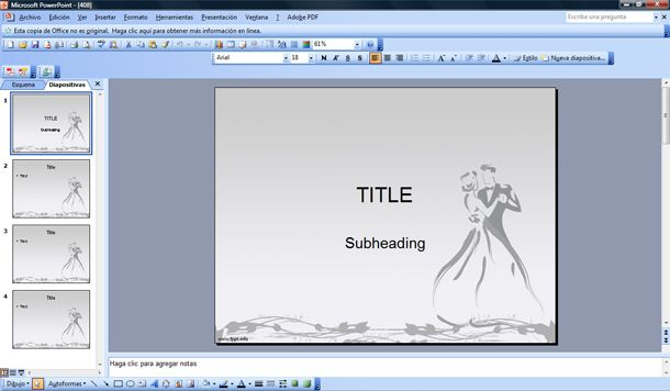 Wedding Powerpoint Template Free Powerpoint Templates