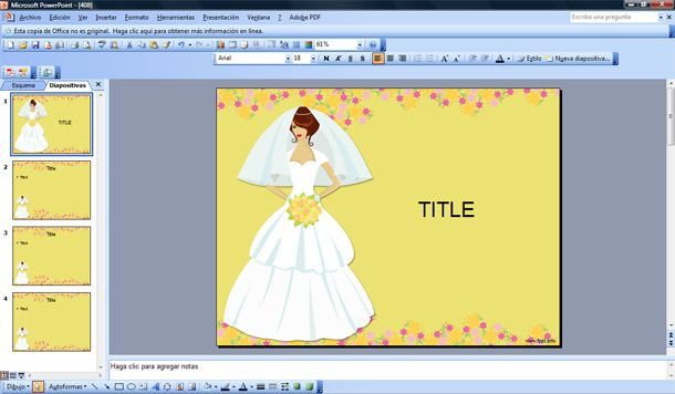 Bridal Powerpoint Sponsored Ads Bridal PowerPoint for Wedding templates