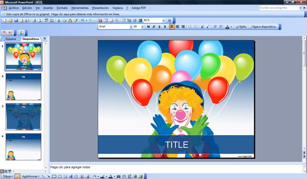 circus clown powerpoint template slide background