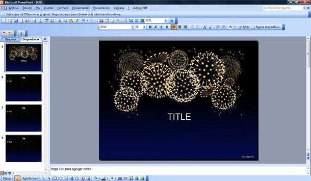 free celebration fireworks powerpoint template
