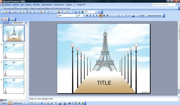 paris powerpoint template