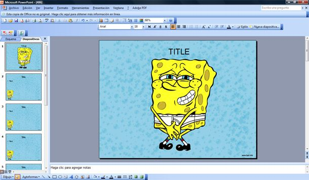 spongebob powerpoint template - funny sponge bob katy perry buzz
