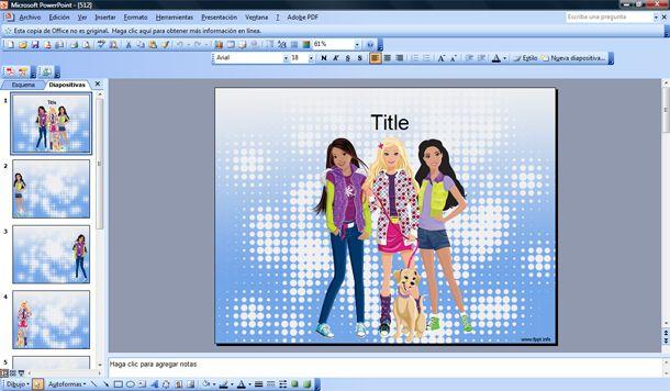 girls teenager powerpoint template