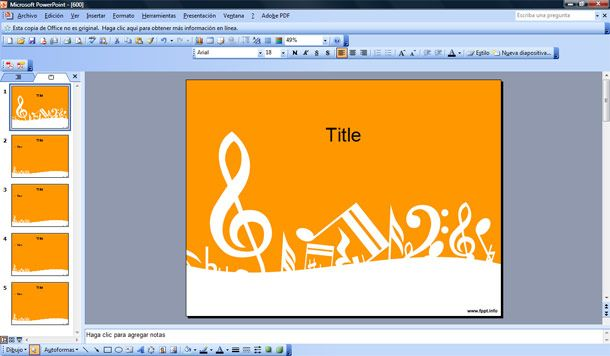 music to powerpoint template