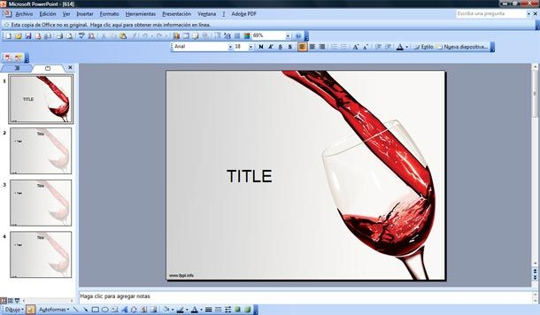 red wine powerpoint