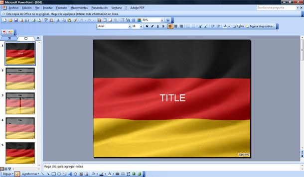 flag of germany powerpoint