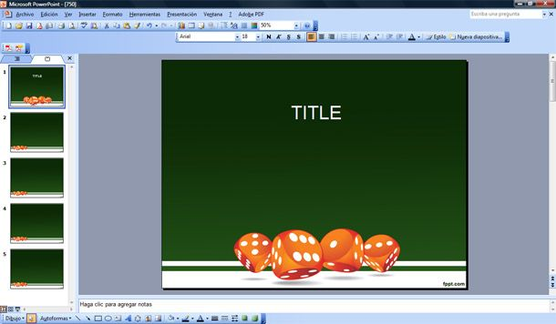 Free Dice Game Powerpoint Template