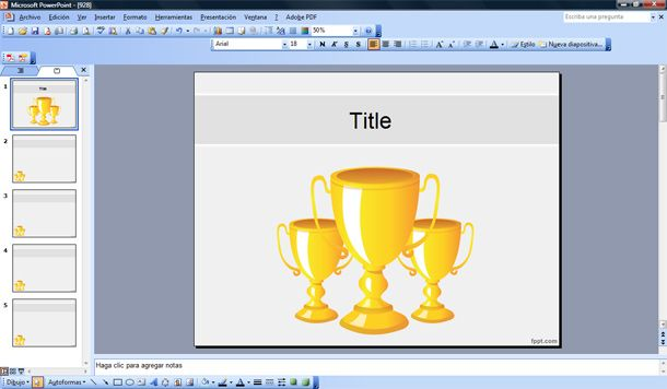 free trophies powerpoint template