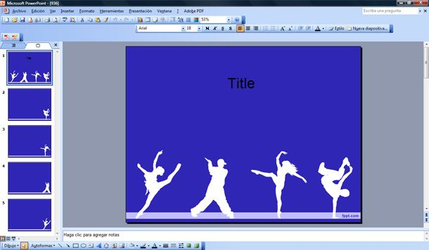 dancers powerpoint template